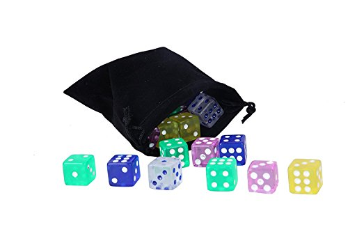 Juvale Game Dice – 50-Piece 6-Sided Game Dice with Black D