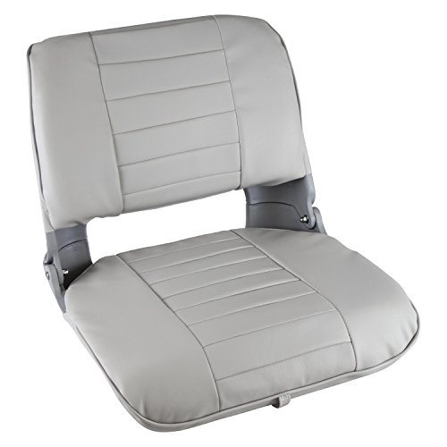 Wise Clam Shell Style Folding Boat Seat, with Cushions, Grey