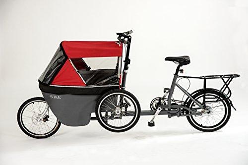 WIKE Salamander Cycle Stroller - Red/Grey ()