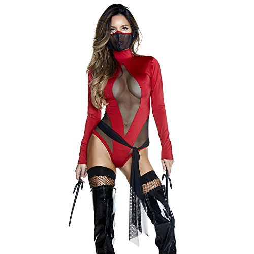 Forplay Women's Slay Something Sexy Ninja Costume, red, S/M]()