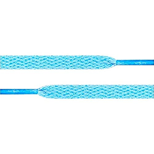 "45"" Sky Blue 5/16 Flat Shoelace For All WoMens Canvas Shoes"