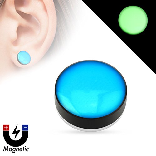 earrings-rings-magnetic-epoxy-dome-top-black-acrylic-glow-in-the-dark-fake-magnetic-plug-sold-as-a-p