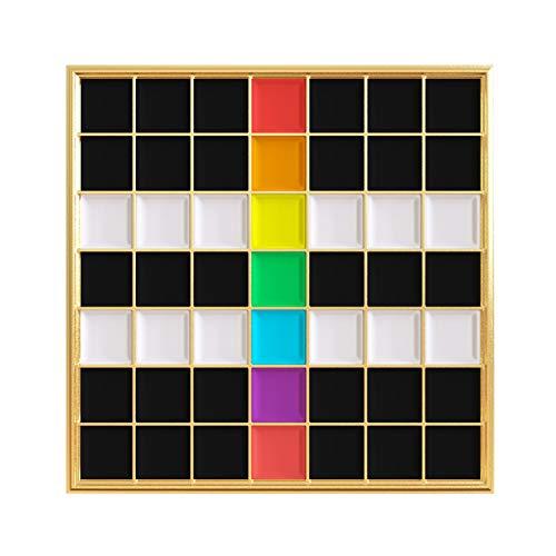 Real Sic Straight Ally Pin - Pride Lapel Pin Series Premium Grid Enamel Pin - Gold Plated ()