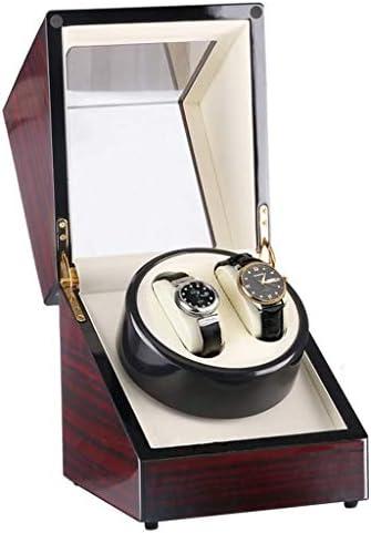 ワインディングマシーン ウォッチワインダーボックス付ACまたはバッテリ駆動、自動男性のための静かな日本の自動車とモーターボックスエレクトリックシェーカーローテータの収納ケースを巻 超静音設計