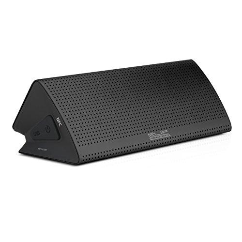 Klip Xtreme EnKore Stereo Speaker- Portable Bluetooth Wireless & Mic- NFC Connectivity- Metal Case- 20 Watt Peak Power, 10W RMS, Dual 40mm Speaker Drivers- BT V4, up to 10Hr Playback- Black Color (Xtreme Bluetooth)