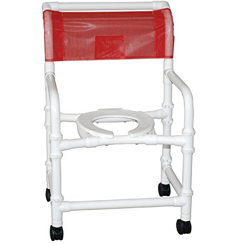 (MJM International 122-3TW-SSDE Wide Shower Chair with Soft Seat, 375 oz Capacity, 40.5