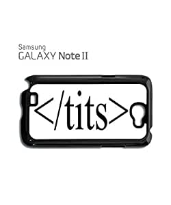 HTML Tits Boob Naked Mobile Cell Phone Case Samsung Note 2 Black
