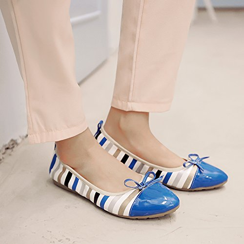 JIEEME Ladies Spring Pointed toe Bowknot Women Ballet flats Sweet Pink Blue Single shoes Pink lh3Mj
