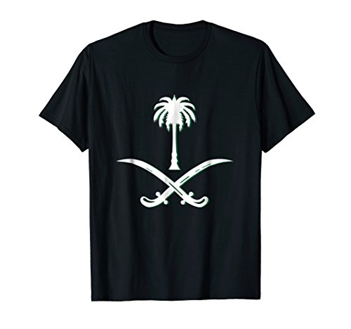Mens Proud Saudi - Saudi Arabia Flag T Shirt - Arabic Calligraphy Medium Black