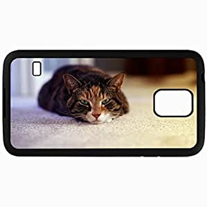 Fashion Unique Design Protective Cellphone Back Cover Case For Samsung GalaxyS5 Case Cat View Comfort Black