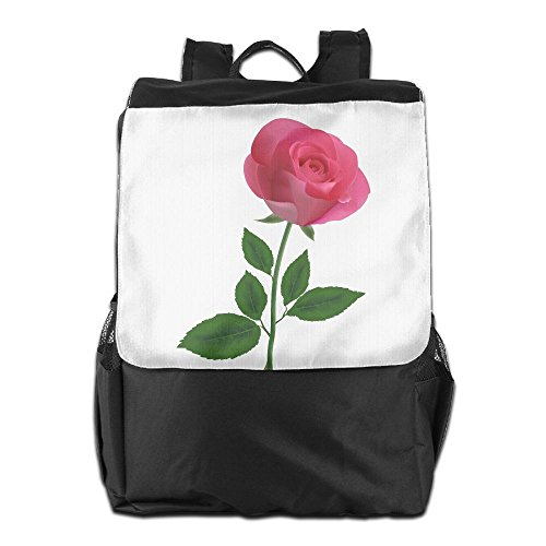 ZHONGRANINC Pink Rose Clipart Flower Illuminati Different Outdoor Men And Women Travel Backpack Travel Knapsack (Pink Clipart Roses)