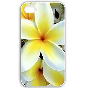Apple iPhone 4 4S Cases Customized Gifts For Flowers Flowers tropical plumeria desktop White