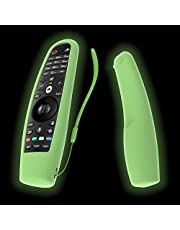 SIKAI Protective Silicone Case For LG AN-MR600 / LG AN-MR650 / LG AN-MR18BA / LG AN-MR19BA Magic Remote Shockproof Cover For LG 3D Smart TV Magic Remote Anti-Lost With Remote Loop (Glow in Dark Green)