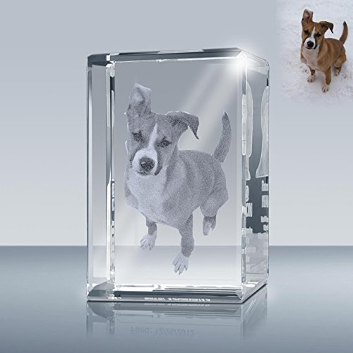 Laser Engrave Photo Crystal Rectangle A00202, Custom Crystal Cube, Picture in Glass Gift Made by ()