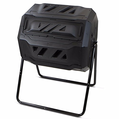 Rison® Composter Tumbler yard Garden Waste Bin Grass Food Trash Fertilizer Lawn Leaves