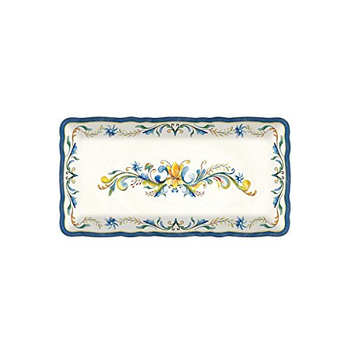 Le Cadeaux Melamine Floral Harvest - 10 by 5 inch Biscuit Tray