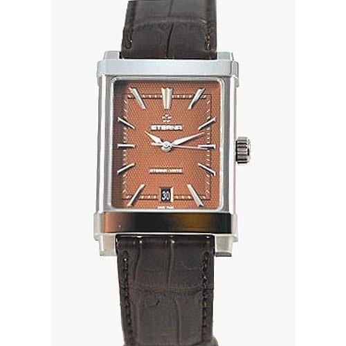 Eterna 1935 Eterna-Matic Grande Men's Brown Leather Strap Swiss Automatic Watch 8492.41.21.1162D