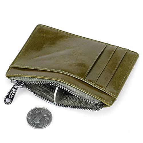 Green Blue Mini Case RFID Card Unisex Holder Womens Wallets Mens Card Dark Purse wq7Tpp