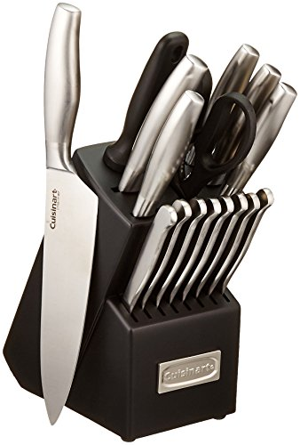 Cuisinart C77SS-17P 17-Piece Artiste Collection Cutlery Knife Block Set, Stainless - Knife Block Steel Storage Stainless