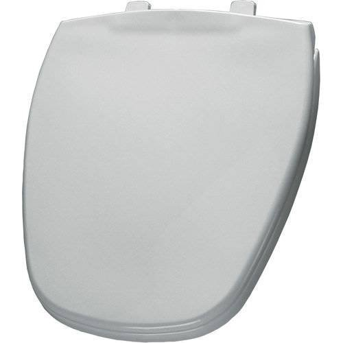 Bemia|#Bemis 1240200 000 Round Closed Front Plastic Toilet Seat with Cover, White,