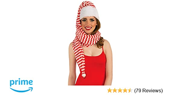 41159689b03429 Amazon.com: Forum Novelties Women's Santa Cozy Wrap Hat, Red/White, One  Size: Clothing