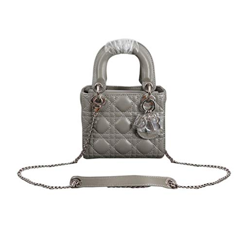 Womens Mini LANA MARKS Princess Diana Handbag Lady Dior Lambskin Bag