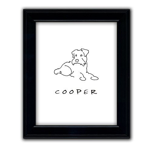 Scottish Terrier / Schnauzer - - Personalized Framed Dog Line Drawings - Perfect and Unique Gift for Dog Lovers! (Scottish Terrier Art Dog)