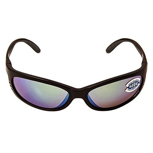 Costa Del Mar Fathom Sunglasses Matte Black/Green Mirror 400Glass from Costa Del Mar