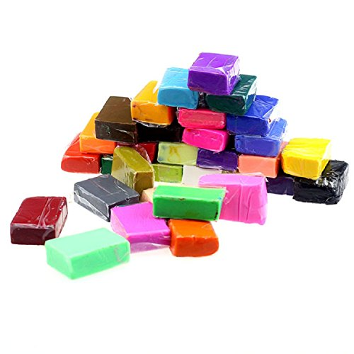 Sannysis 32PC DIY Malleable Fimo Polymer Modelling Soft Clay Blocks ()