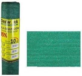 Malla ocultacion verde 95% 1x10 mt: Amazon.es: Bricolaje y herramientas