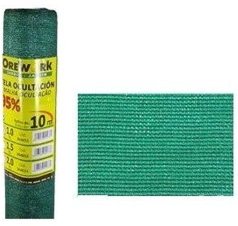 Malla ocultacion verde 95% 1x50mt Orework: Amazon.es: Bricolaje y herramientas
