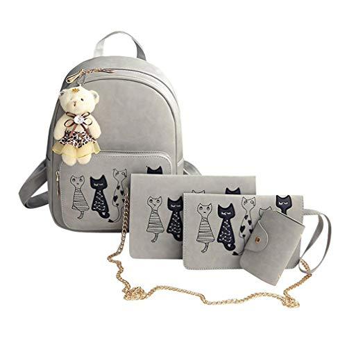 School Backpacks Set 02 Female 4Pcs Bags 02 Small wIpq7ScE
