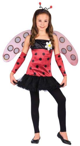 [Lovely Lady Bug Kids Costume] (Girls Bug Costumes)