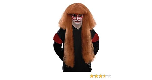 Rubies Costume Kabuki peluca - Marrón - talla única: Amazon.es ...