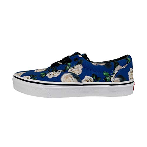 Vans Unisex Era Skate Shoes, Classic Low-Top Lace-up Style in Durable Double-Stitched Canvas and Original Waffle Outsole (10.5 M US Women / 9 M US Men, (Romantic Floral) Lapis Blue)