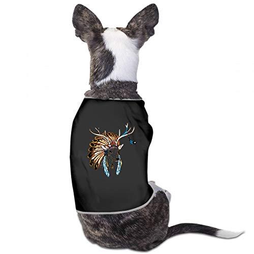 (XUGGL Dog Girl Pajamas Head Deer Indian Chief Feather Headwear Tank Top Soft Cotton Womens Dog)