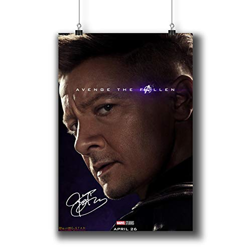 Avengers: Endgame (2019) Movie Poster Small Prints 183-316 Hawkeye Reprint Signed Casts,Wall Art Decor for Dorm Bedroom Living Room (A3|11x17inch|29x42cm)