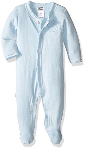 Kushies Baby Boys' Snap Front Sleeper, Light Blue, 01M