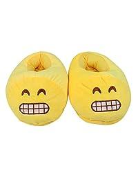 Sotojobs Unisex Emoji Super Cute Comfortable Cartoon Cotton Slippers,Winter Warm Plush Indoor Shoes(multi colors) (grey cat slippers)