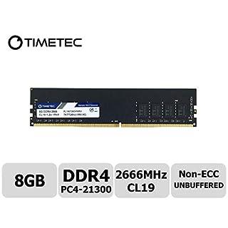 Timetec Hynix IC 8GB DDR4 2666MHz PC4-21300 Unbuffered Non-ECC 1.2V CL19 1Rx8 Single Rank 288 Pin UDIMM Desktop Memory RAM Module Upgrade (8GB)