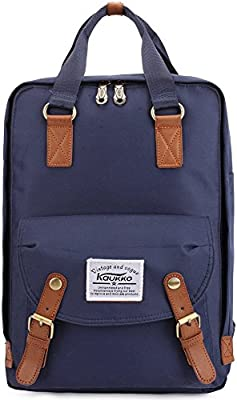 b5d191abd0f84 Schulrucksack Damen Herren Rucksack 14 Zoll Lässiger Studenten Backpack  Kaukko Kinder Laptop Rucksäcke Stylish Daypacks Backpacks Schultasche for  Arbeit ...