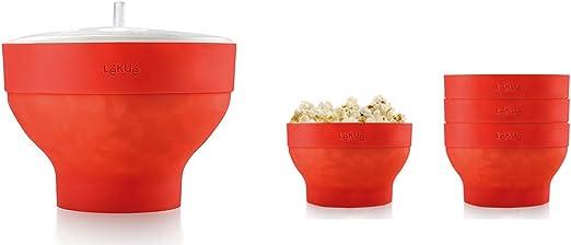 Lékué XL Popcorn - Set para microondas con un molde de silicona ...