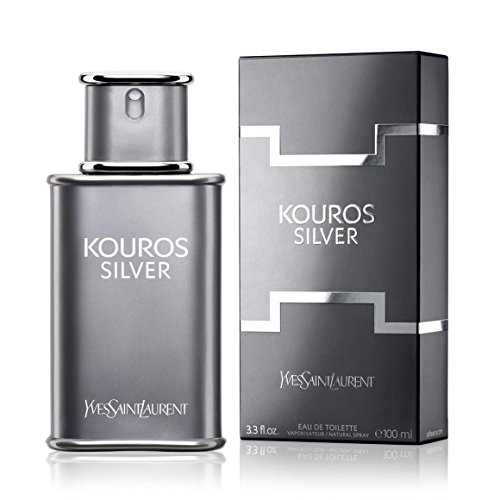 Kouros Silver By Yves Saint Laurent 3.4 oz Eau De Toilette Spray for - Discount Mens Fragrance Silver