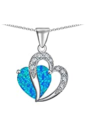 Star K 12mm Large Double Heart Pendant Silver