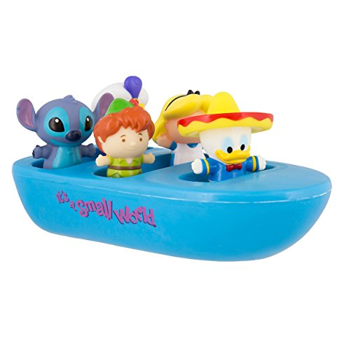 Disney Parks Its a Small World Bath Pool Toys Ride Boat with 5 Characters Donald Duck Stitch Aladdin Alice Peter Pan (Peter Pan Boat compare prices)