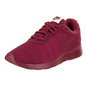 NIKE Women's Tanjun Prem Noble Red/Noble Red Hot Punch Running Shoe 8.5 Women US