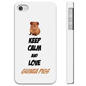 SudysAccessories Keep Calm And Love Guinea Pigs iphone 6 4.7 Case iphone 6 4.7 Case - SoftShell Full Plastic Direct Printed Graphic Case