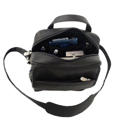Piel Leather Leather Travelers Mens Bag Black