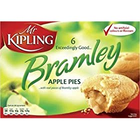 Mr Kipling Cakes – Bramley Apple Pies – 6pk