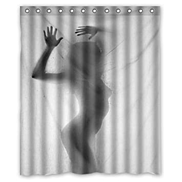 Best Shower Curtain  Funny And Sexy Woman Behind The Curtain Silhouette  Shadow 60u0026quot; X